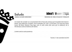 Presentació del distintiu: XARXA DE COMERÇOS PER LA IGUALTAT ENTRE DONES I HÒMENS