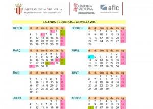 Calendario comercial 2016_Xirivella