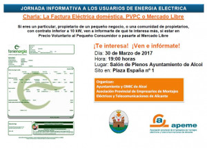 Jornada informativa als usuaris d'energia elèctrica