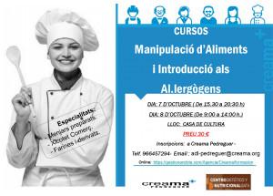 Nuevos cursos de manipulación de alimentos organizados por Creama Pedreguer