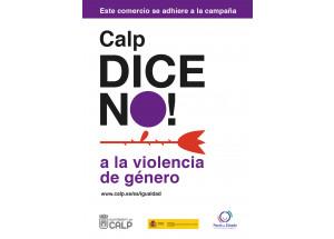 Calp dice No! a la violencia de género.
