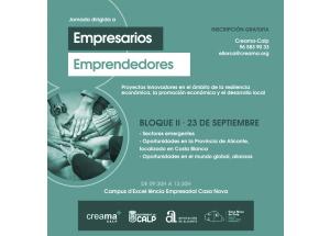 C A N C E L A D O Formación Empresarial Calp. Sectores Emergentes. Oportunidades en la Provincia de Alicante. Alianzas.