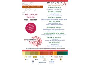Ya se conocen los talleres formativos que se impartirán en el 3er Ciclo de Comercio AFIC-Creama.